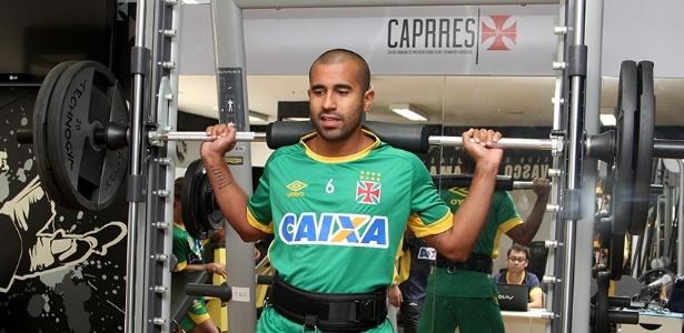 Julio Cesar em treino físico do Vasco em São Januário