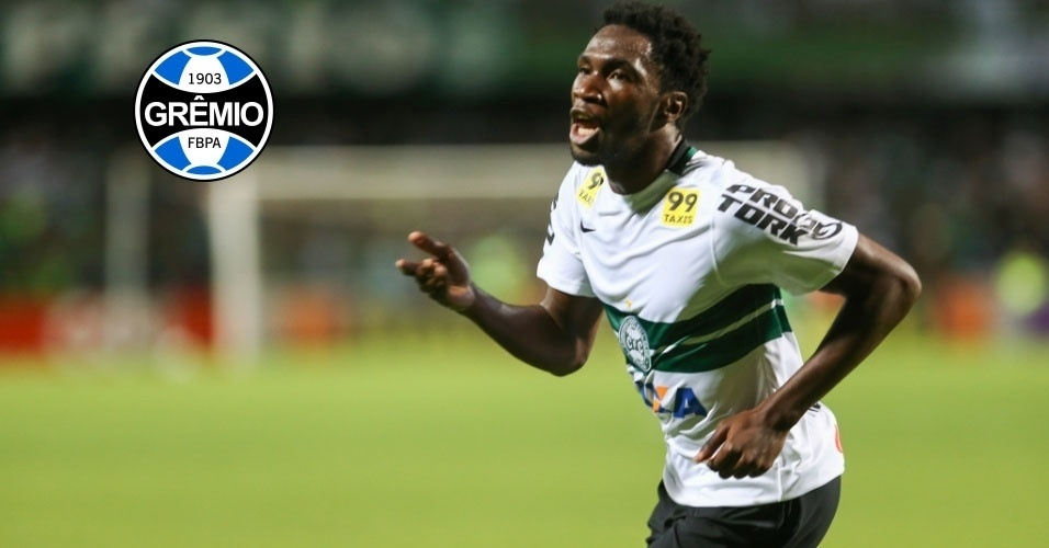 Montagem - Negueba (atacante) - Do Coritiba para o Grêmio