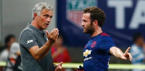 Mourinho e Mata juntos no Manchester United