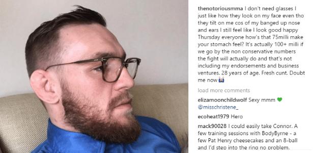 Conor McGregor aparece nas redes sociais para falar de luta com Mayweather