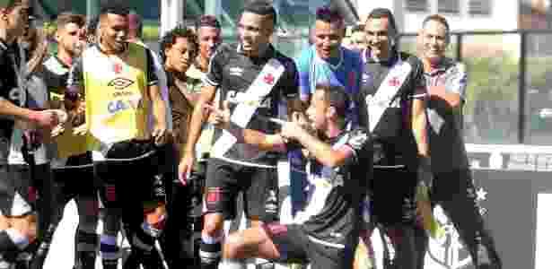 O atacante Nenê comemora gol para o Vasco - Paulo Fernandes/Vasco.com.br - Paulo Fernandes/Vasco.com.br
