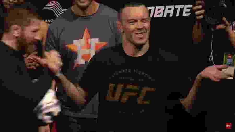 Colby Covington provoca torcida na pesagem do UFC São Paulo - Reprodução
