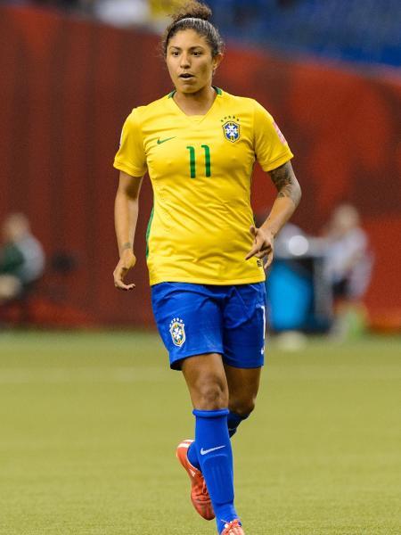 A atacante Cristiane, durante jogo da seleção brasileira feminina - Minas Panagiotakis/Getty Images