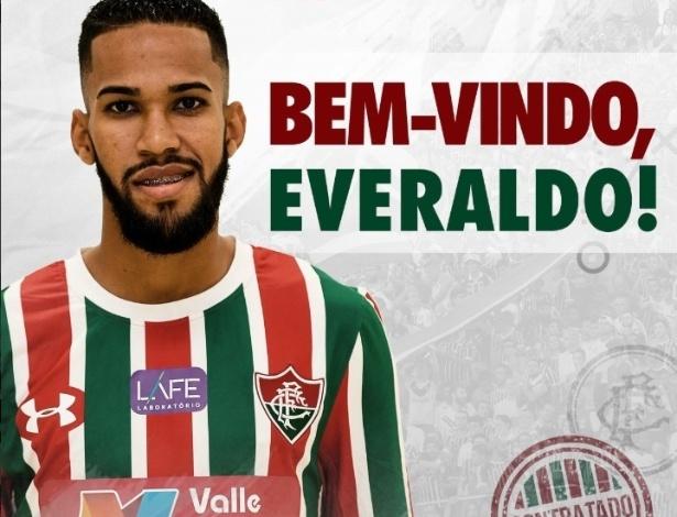 O Fluminense confirmou a contratação do atacante Everaldo, ex-São Bento - Reprodução Twitter Fluminense