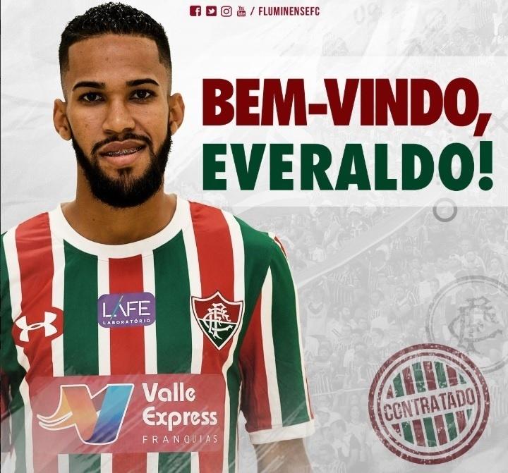 O Fluminense confirmou a contratação do atacante Everaldo, ex-São Bento