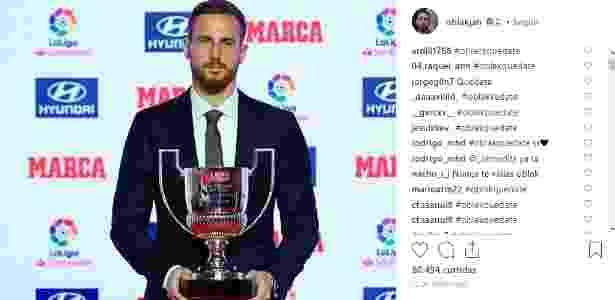 """Torcida do Atlético usa o Instagram do goleiro para pedir sua permanência: """"fica, Oblak"""" - Reprodução/Instagram"""