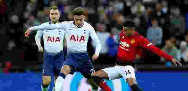 Dele Alli, do Tottenham, e Lingard, do United - Eddie Keogh/Reuters - Eddie Keogh/Reuters