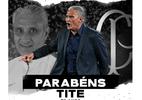 """Corinthians parabeniza Tite: """"Nosso comandante nas conquistas históricas"""" - Reprodução/Twitter"""