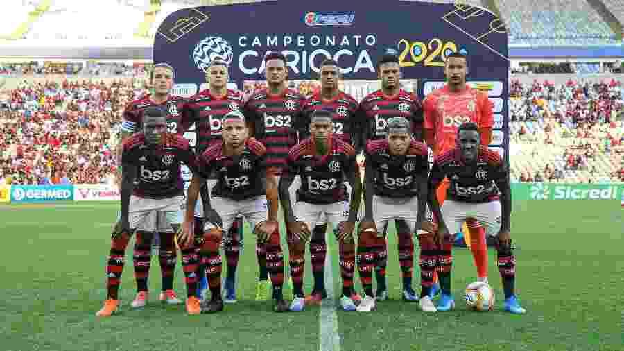 Time do Flamengo no duelo diante do Volta Redonda - Marcelo Cortes / Flamengo