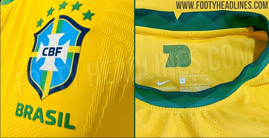 Detalhes da nova camisa da seleção brasileira