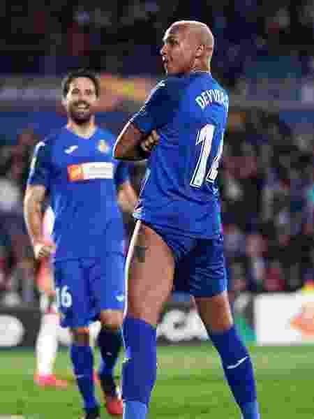Deyverson comemora gol do Getafe sobre o Ajax - Quality Sport Images/Getty Images