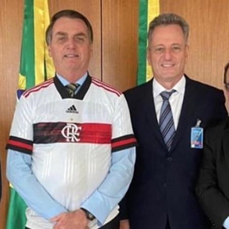 Jair Bolsonaro (e) e Rodolfo Landim (d) - Reprodução/Instagram