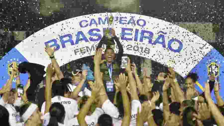 Corinthians festeja título do Brasileirão Feminino - Mauro Horita/CBF