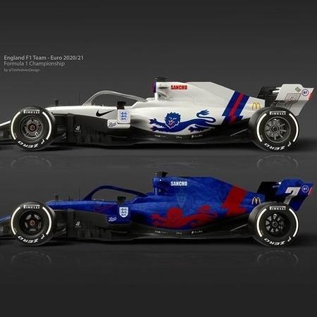 Assim seriam os carros de F1 das seleções europeias - Reprodução