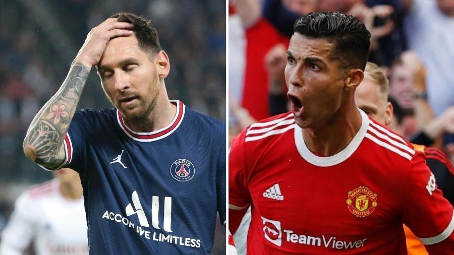 Messi no PSG e Cristiano Ronaldo no Manchester United: inícios opostos - Getty Images