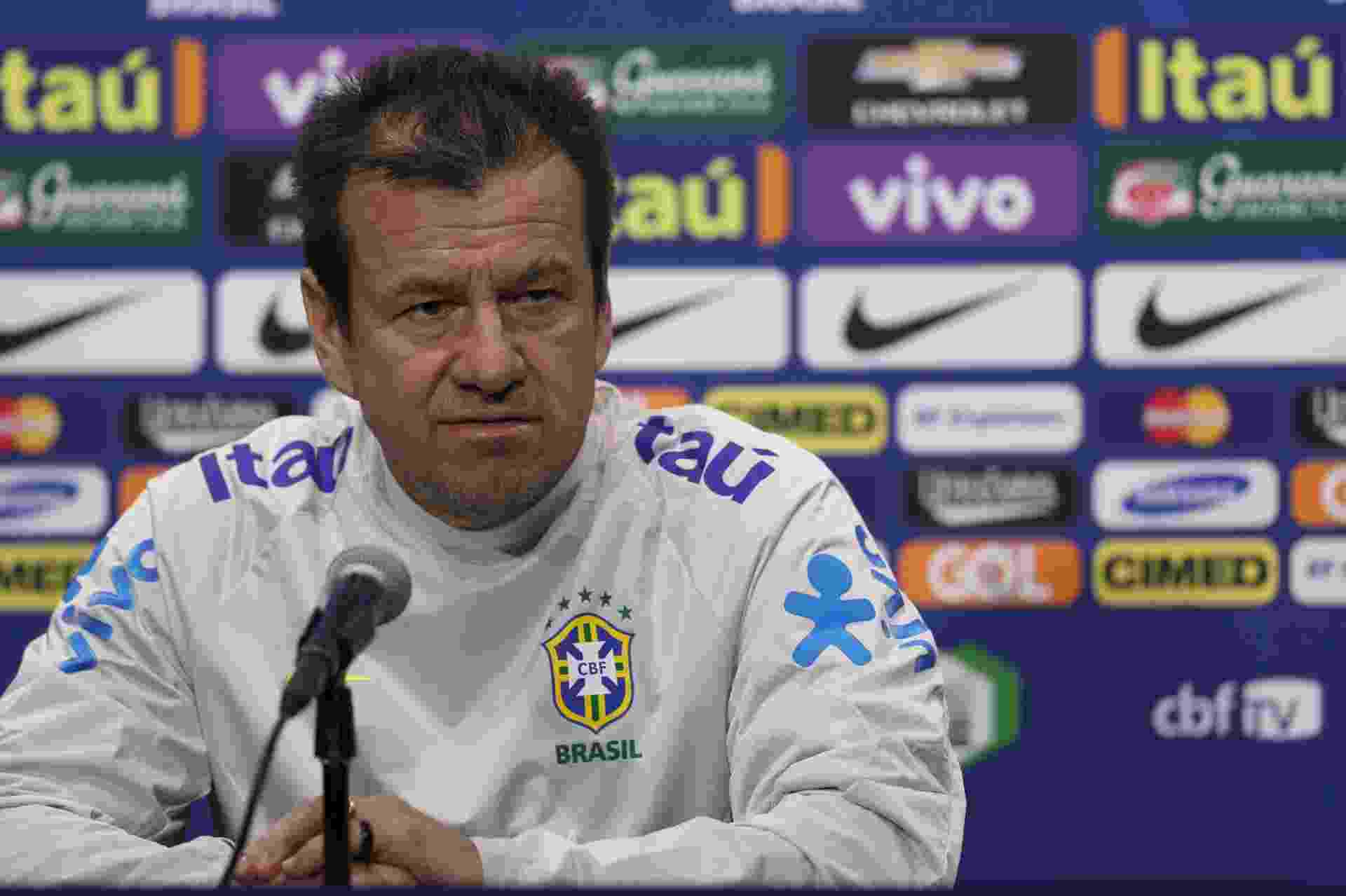 Dunga dá entrevista antes do primeiro treino aberto para imprensa na Copa América - Lucas Figueiredo / MoWA Press