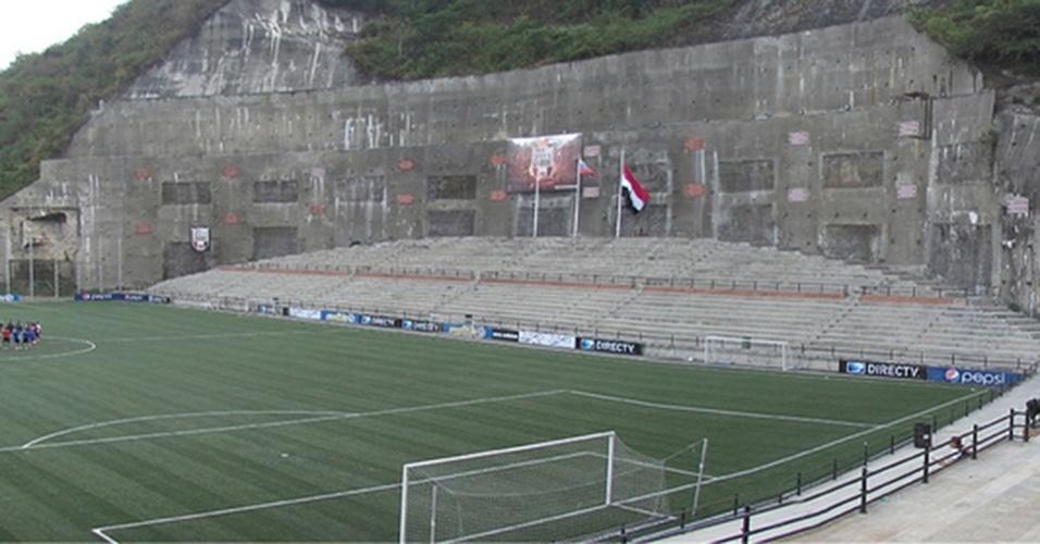 Cocodrilos Sports Park, do Caracas-VEN, é outro estádio incrustado nas pedras