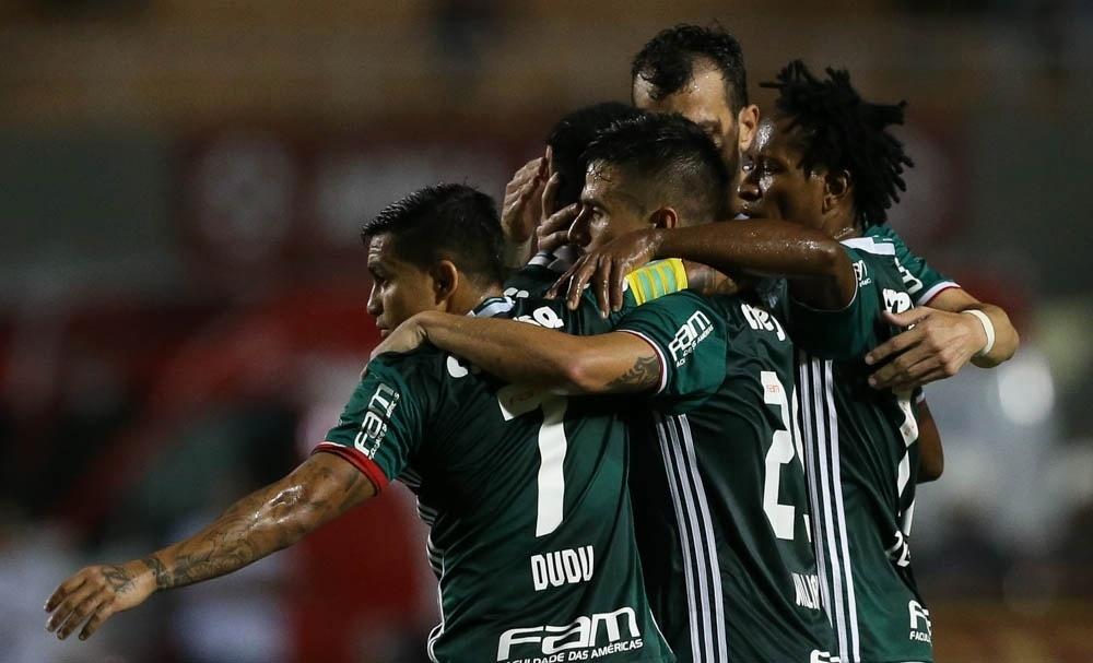 Palmeiras Dudu abraços Paulista Novorizontino