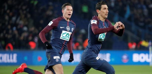 Di Maria anotou os dois gols da vitória do PSG sobre o Olympique de Marselha