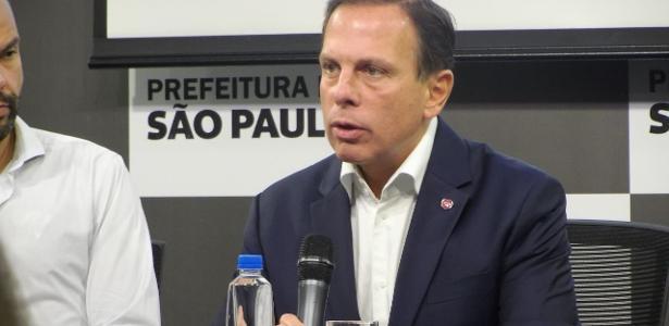 João Dória durante coletiva sobre a concessão do Pacaembu