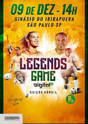 Evento promovido por Ronaldinho terá Denilson como adversário - Divulgação
