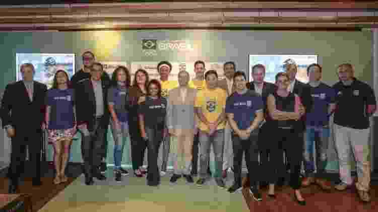 Atletas e ex-atletas no evento que marcou 100 dias para o Pan de Lima  - Wander Roberto/Exemplus/COB