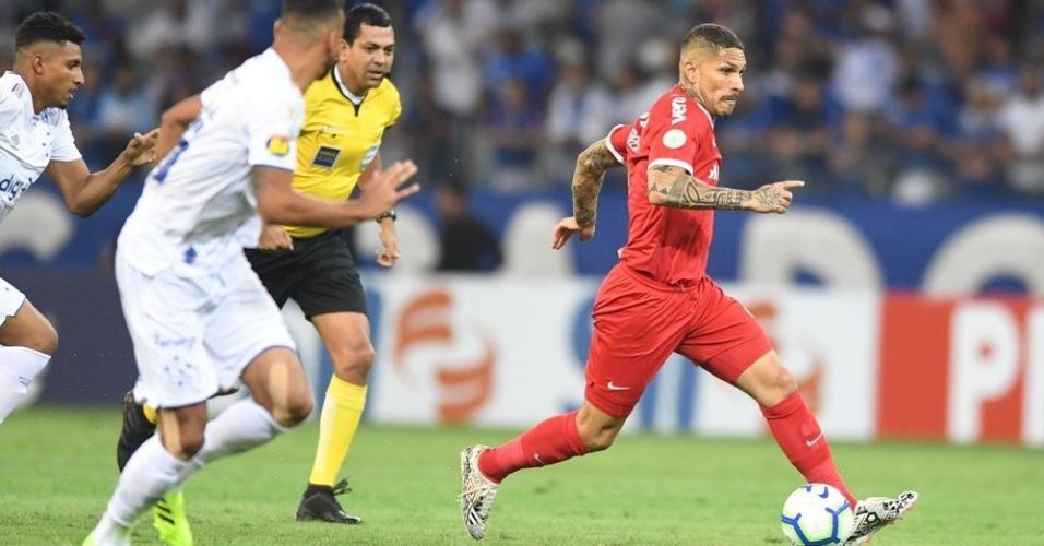 Guerrero, durante partida entre Inter e Cruzeiro
