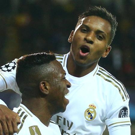 Rodrygo e Vinicius Junior marcaram pelo Real Madrid contra o Club Brugge - Dean Mouhtaropoulos/Getty Images