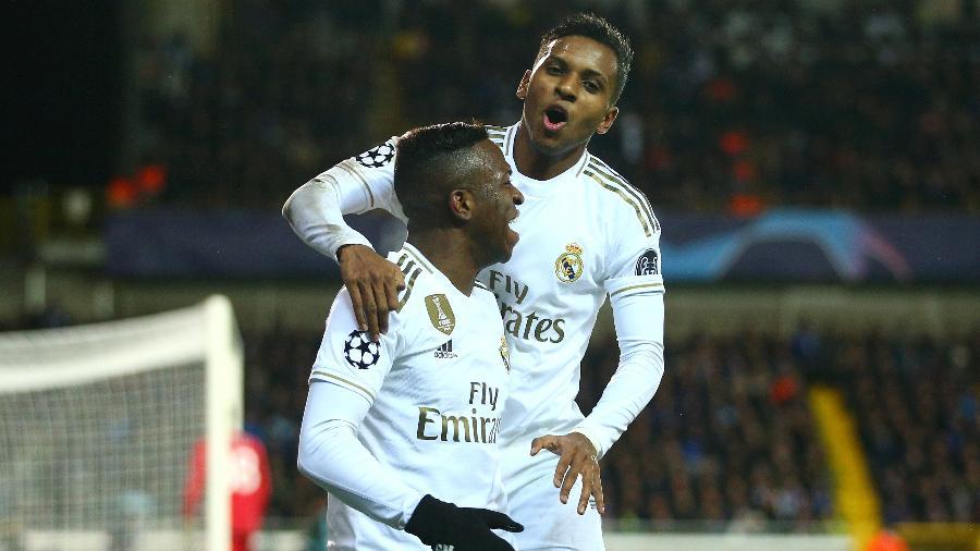 Rodrygo e Vinicius Junior, do Real Madrid, concorrem ao prêmio Golden Boy - Dean Mouhtaropoulos/Getty Images