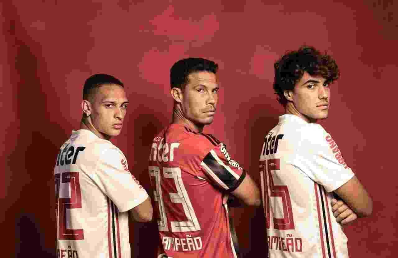 Antony, Hernanes e Igor gomes, jogadores do São Paulo - Divulgação/Conmebol