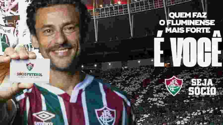 Nas redes sociais, torcida faz campanha de associação em massa ao Fluminense após o retorno do ídolo Fred - Reprodução/Fluminense FC