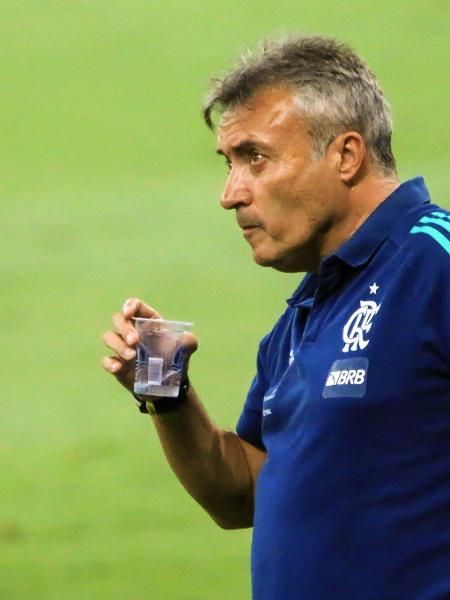 Domènec Torrent, técnico do Flamengo, durante goleada sofrida para o Atlético-MG, em 2020 - DUDU MACEDO/FOTOARENA/FOTOARENA/ESTADÃO CONTEÚDO