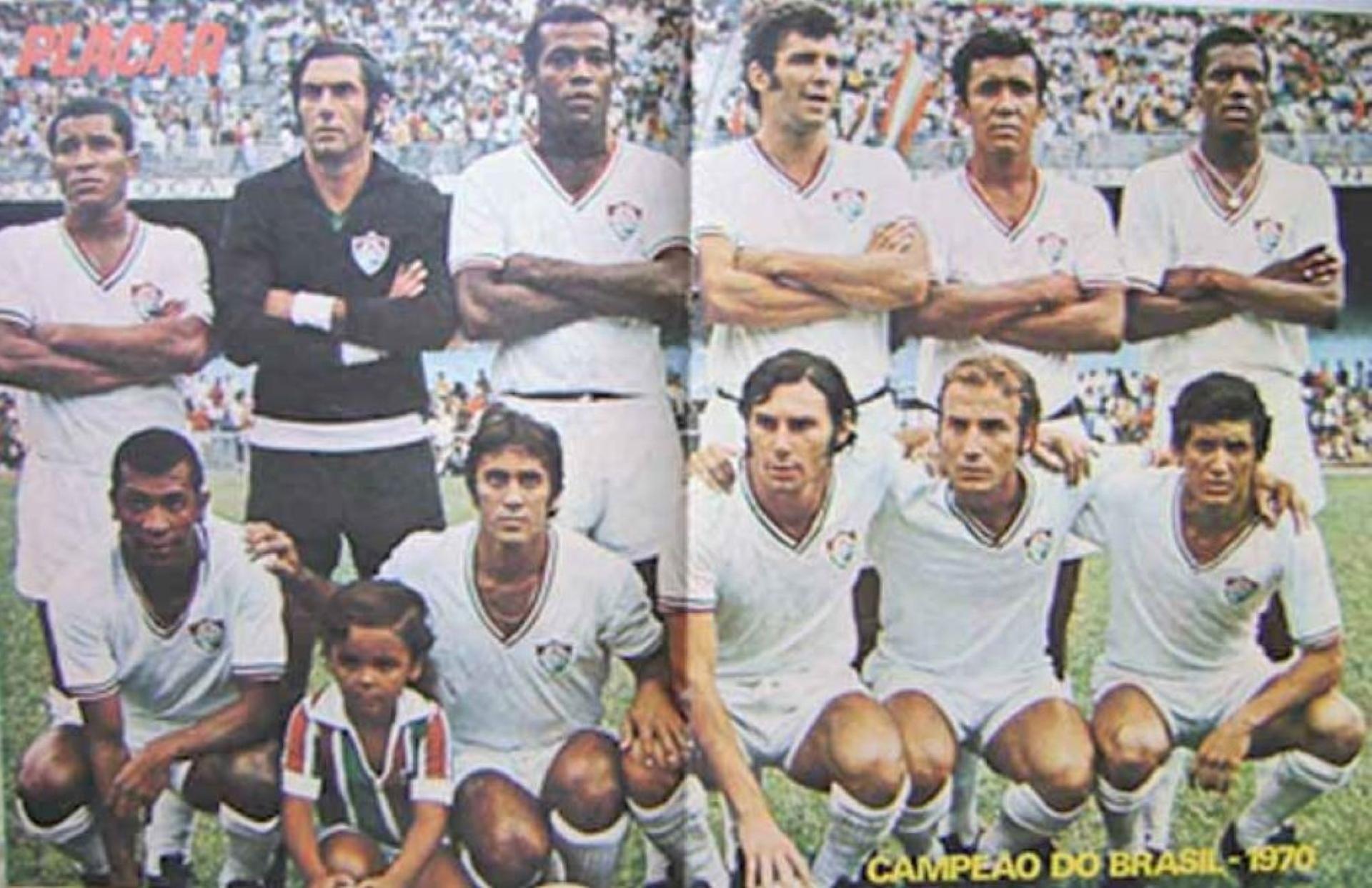 Poster da revista placar - Fluminense campeão brasileiro em 1970