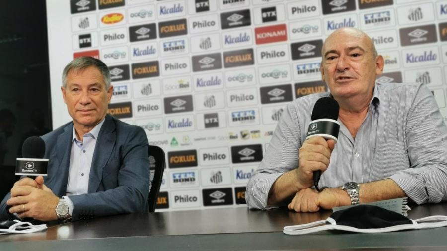Ariel Holan em sua apresentação no Santos - Guilherme Kastner/ Santos FC
