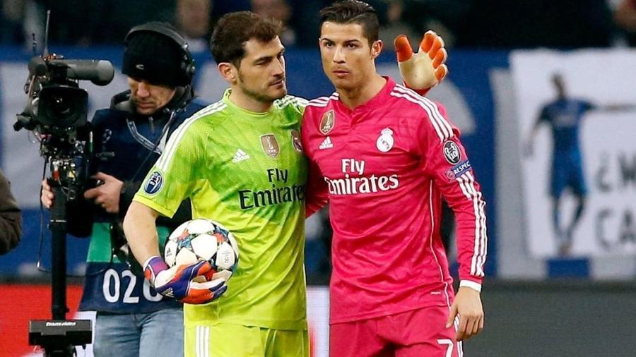 Iker Casillas e Cristiano Ronaldo são os 2 jogadores que mais atuaram na Champions - AFP