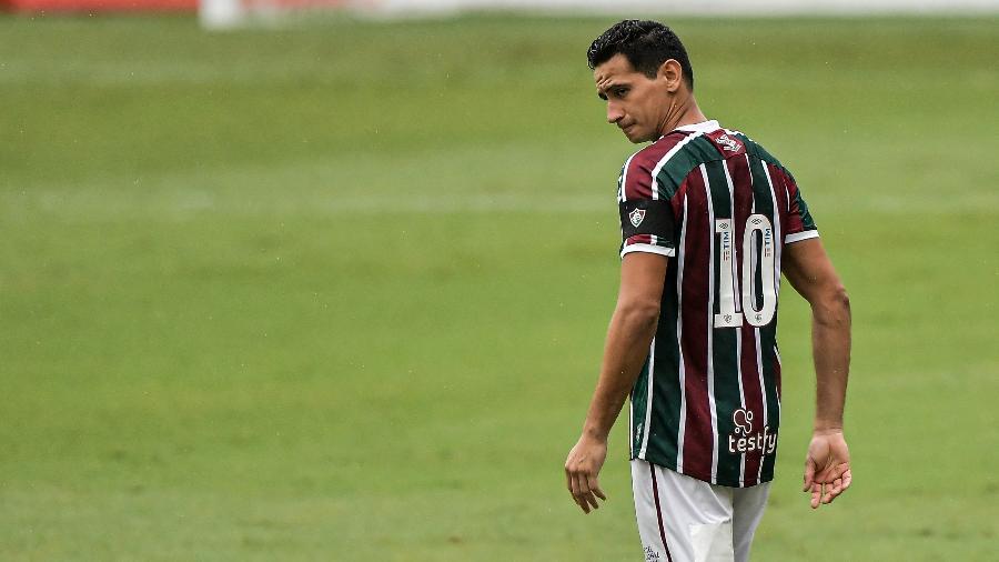 Paulo Henrique Ganso não atuará pelo Fluminense, diante do River Plate, na estreia na Libertadores - Thiago Ribeiro/AGIF
