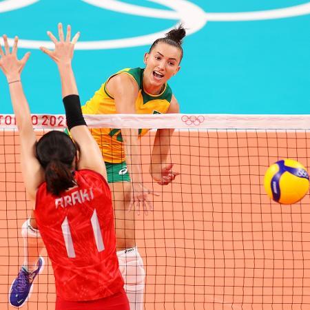 Brasil x Japão no vôlei feminino nos Jogos Olímpicos de Tóquio - Toru Hanai/Getty Images