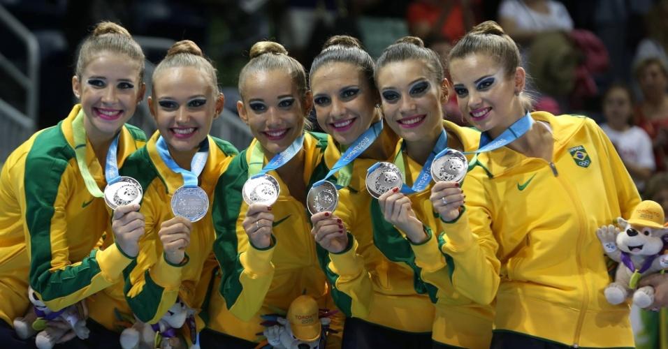 Da esq. para dir.:Dayane Amaral, Regina Morgana, Emanuelle Lima, Jessica Sayonara, Ana Paula Ribeiro Beatriz Pomini conquistaram dois ouros e uma prata