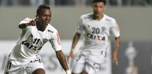 Cazares marcou para o Atlético-MG logo no primeiro minuto, contra o Colo-Colo