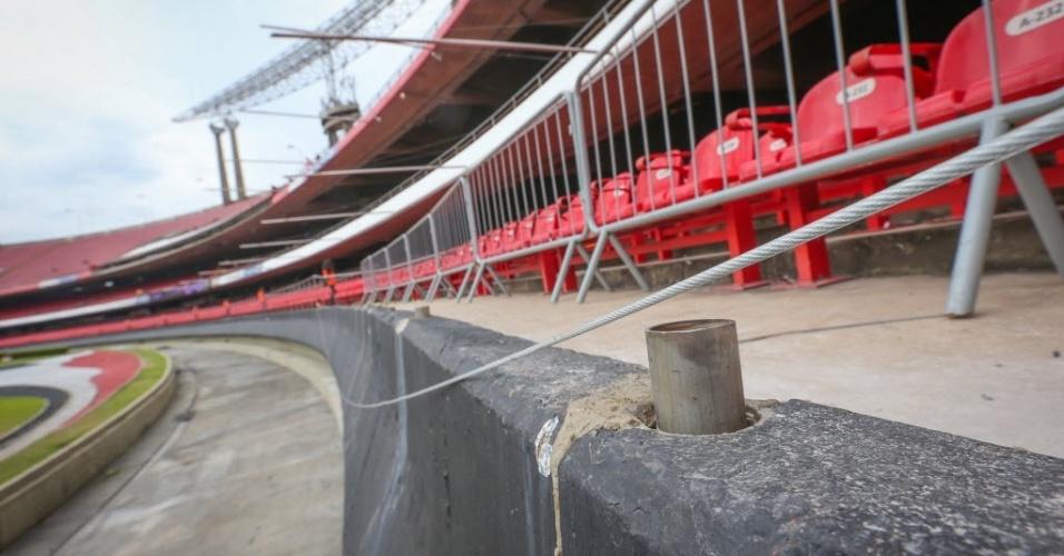 Anel inferior do Morumbi continua interditado no clássico São Paulo e Palmeiras