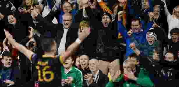 Ciaran Kilduff, do Dundalk, comemora gol contra o Maccabi Tel Aviv - Reuters/Clodagh Kilcoyne - Reuters/Clodagh Kilcoyne
