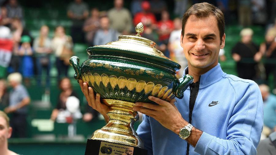 Federer conquista título de Halle - Carmen Jaspersen/AFP