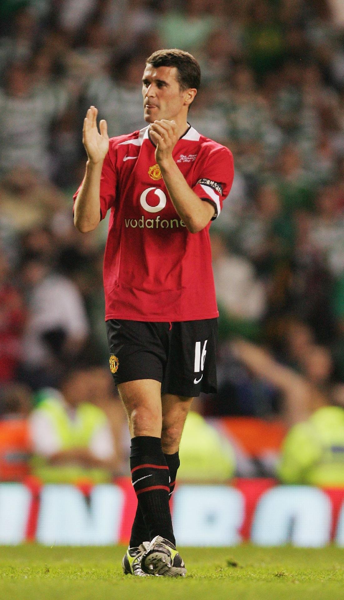 Roy Keane, enquanto atuava no Manchester United