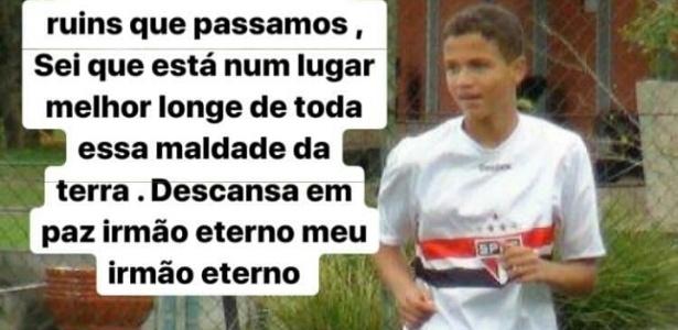 Mensagem de Paulinho Boia para Raul foi postada no Instagram