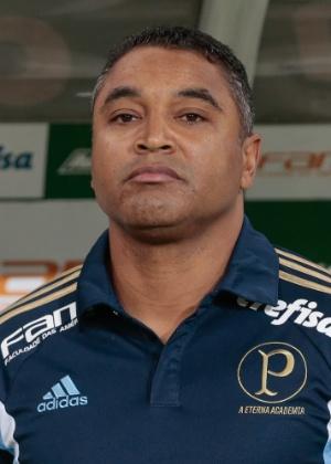 Roger Machado, técnico do Palmeiras, no clássico contra o São Paulo