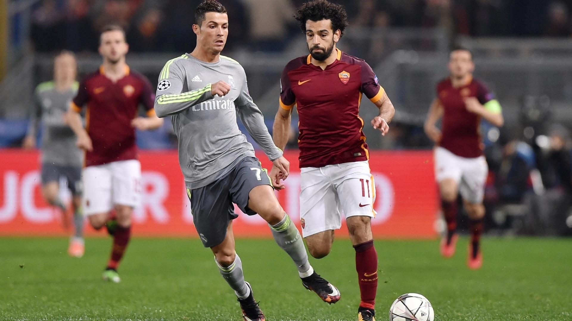 Cristiano Ronaldo e Mo Salah se enfrentaram em 2016, nas oitavas da Liga dos Campeões da Europa