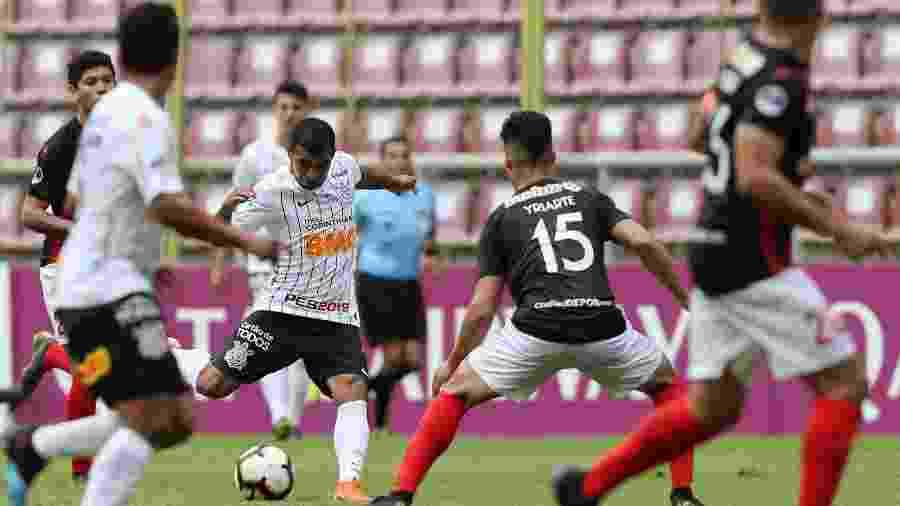 Corinthians encarou o Deportivo Lara, da Venezuela, em jogo da copa Sul-Americana que teve transmissão da DAZN - Manaure Quintero/Reuters