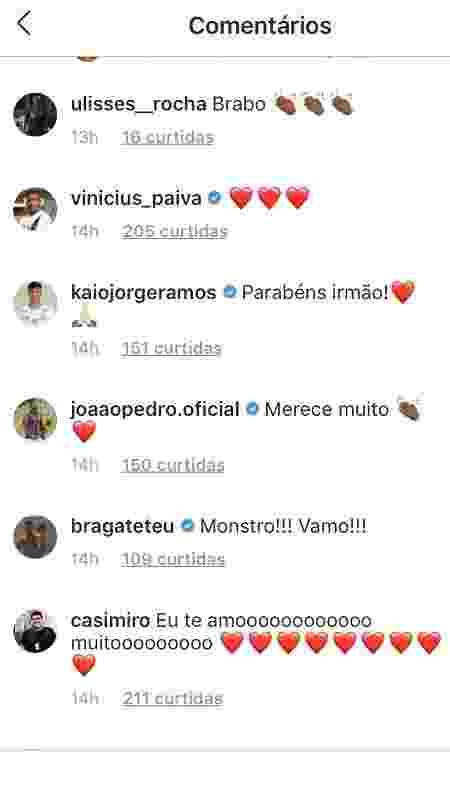 """Atacante João Pedro, do Fluminense, elogia Talles Magno: """"merece muito"""" - Reprodução / Instagram"""