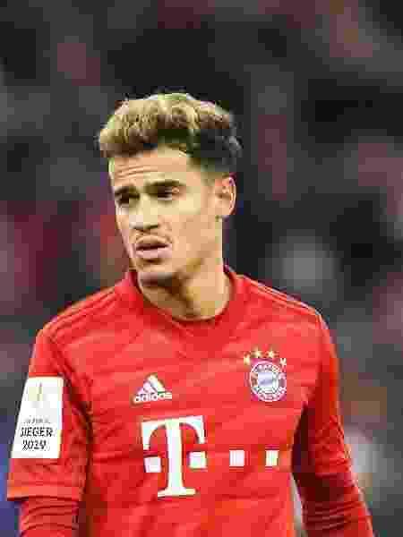 """Philippe Coutinho, em baixa no Bayern de Munique, vê sua carreira ameaçada pelo """"efeito James"""" - Christof Stache/AFP"""