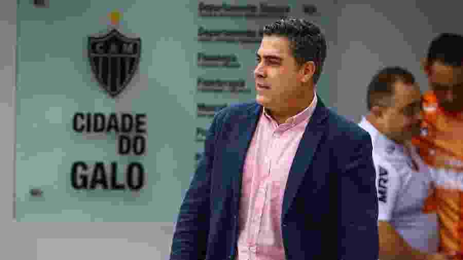 Sérgio Sette Câmara, presidente do Atlético-MG, esteve na Cidade do Galo durante o treino ocorrido pela manhã - Pedro Souza / Divulgação / Atlético-MG